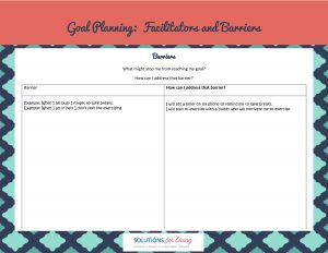 barriers-goal-planning